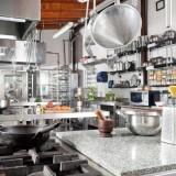 kitchen, interior, clean, steel, stainless, oven, stove, metallic, counter, metal, pasta, gas, silver, food, pestle, nobody, hanging, grate, pot, iron, horizontal, appliance,
