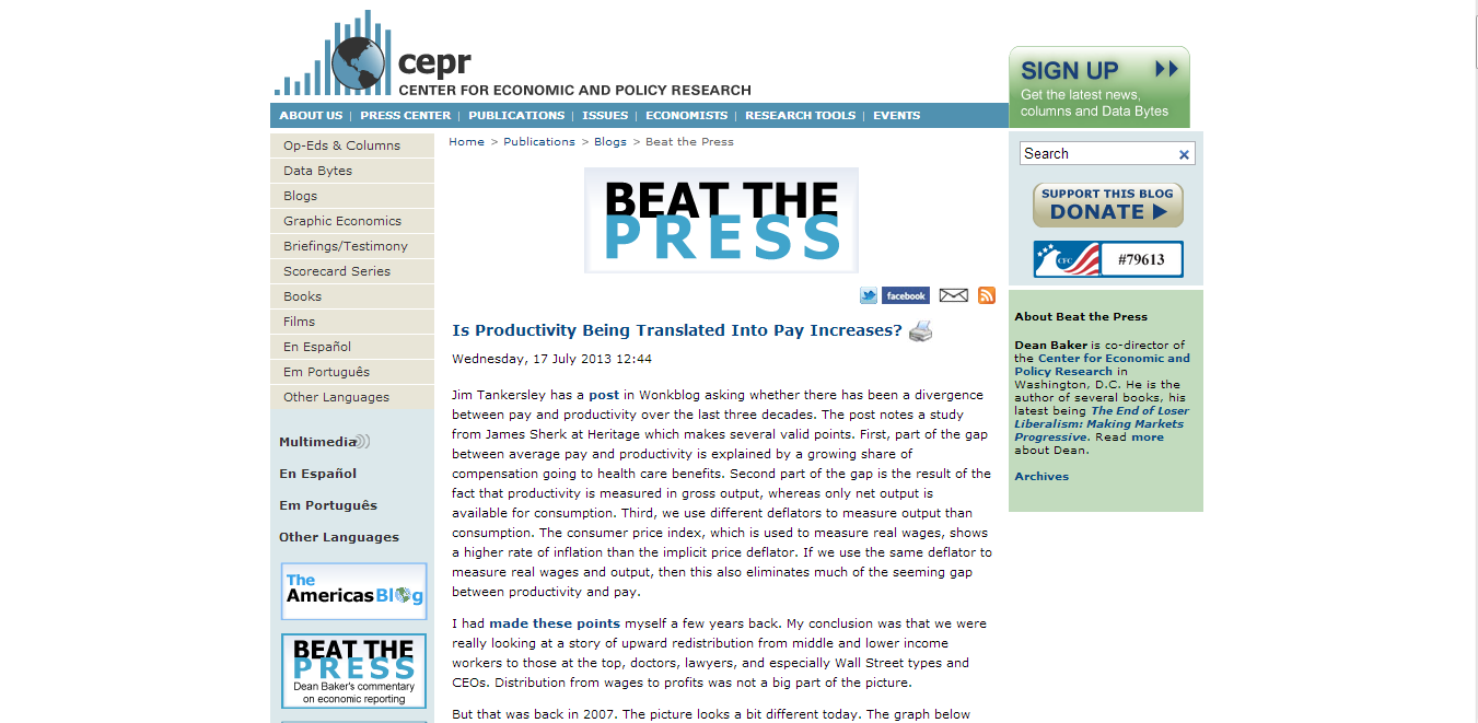Beat the Press (CEPR)