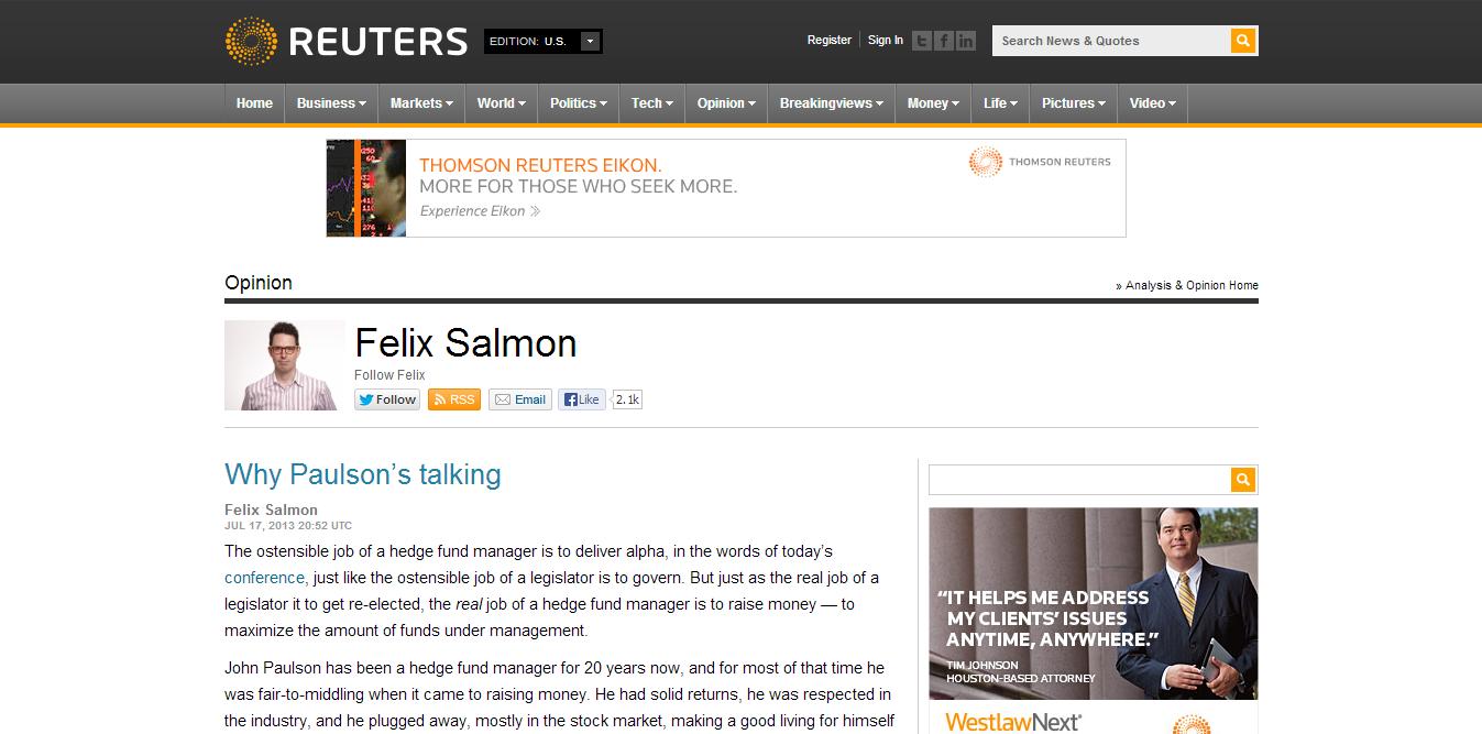 Felix Salmon (Reuters)