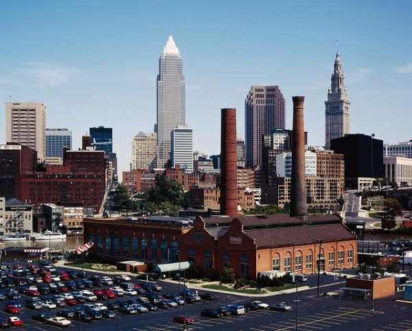 Cleveland, Ohio, 'Flats' District/Public Domain