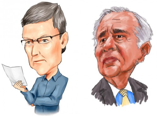 Tim Cook & Carl Icahn