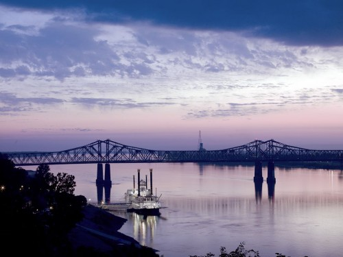 Mississippi River in Natchez, Mississippi