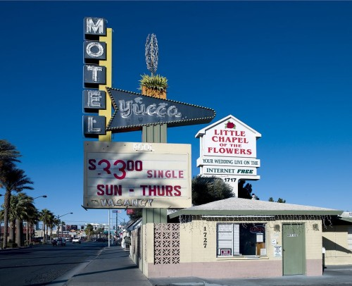 Old Motels and Historic Neon Art in Las Vegas, Nevada