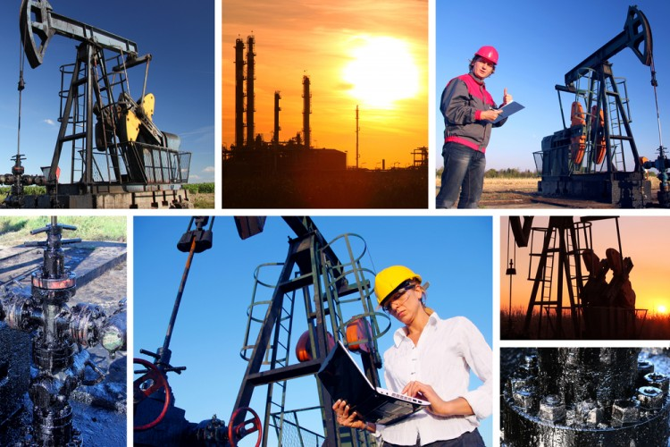Workers in an Oilfield Oil Drilling Halliburton HAL BHI SLB XOM CVX BP Stocks 11 Fastest Growing Blue Collar Jobs