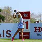 Michelle Wie of USA plays the shot of the 2016 LPGA Thailand at Siam Country Club in Chonburi., action, champion, club, competition, country, cours, course, editorial, female, game, golf, hole, honda, individual, lpga, news, outdoor, player, sport, swing, thailand, tournament, woman