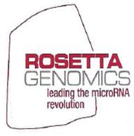 Rosetta Genomics ROSG