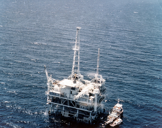 Offshore Oil Drilling BP RIG ESV 2