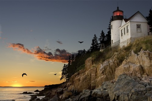 light house Maine coast
