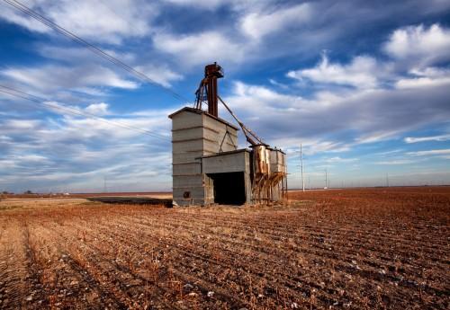 texas-grain elevator-field-farm-agriculture-rural