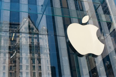 Apple Inc. (NASDAQ:AAPL), Logo, Sign on a building, brand, company, architecture