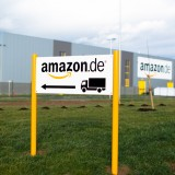Amazon.com, Inc. (NASDAQ:AMZN), Amazon Warehouse, Germany, Sign, logo, Brand, Delivery, Shopping