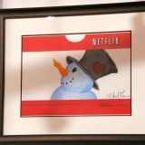 Netflix, Inc. (NASDAQ:NFLX), Picture, Sign, Logo, Brand, Snowman, Special edition red envelopes,