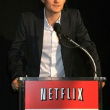 Netflix, Inc. (NASDAQ:NFLX), Sign, Logo, Brand, The Film Foundation, Orlando Bloom, red envelopes