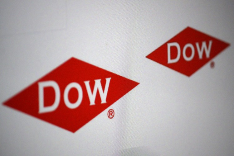 The Dow Chemical Co (NYSE: DOW), Logo, Sign, Symbol Isolated,