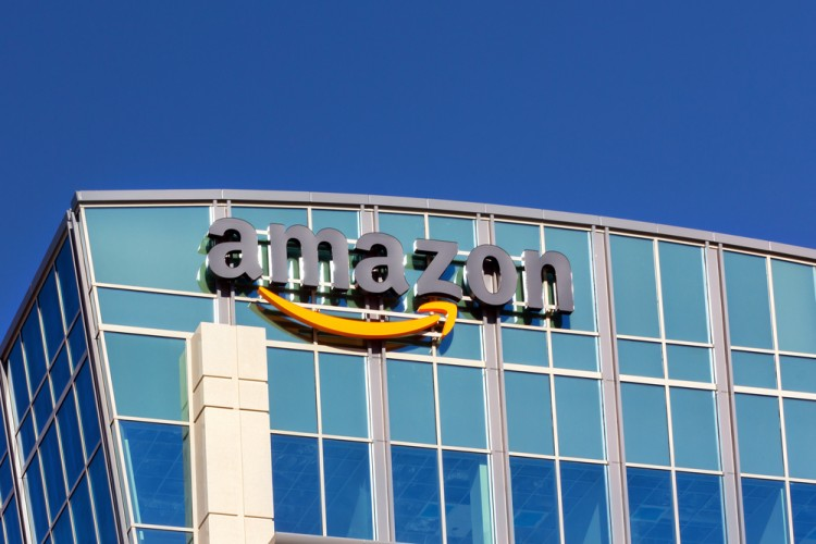 Amazon.com, Inc. (NASDAQ:AMZN), Sign, Building, headquarters, Logo, Brand