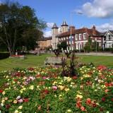 high, england, municipal, park, english, garden, british, chiltern, buckinghamshire, flower, britain, wycombe, public, parkland, flowerbed, road
