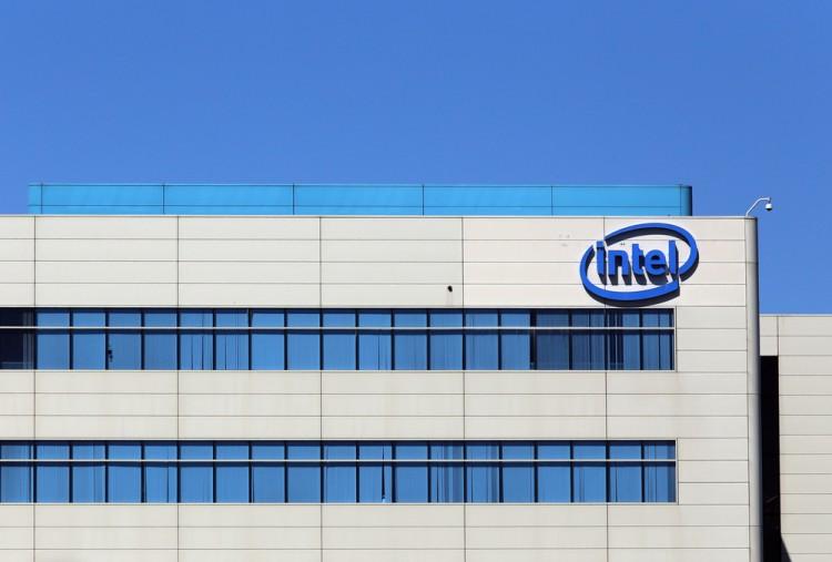 Intel Corporation (NASDAQ:INTC), Logo, Sign, Building, Headquarters, Symbol