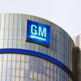 General Motors Company (NYSE:GM), Sign, logo, Building, Symbol, Headquarters, Car