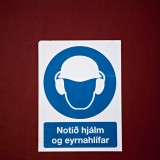 blue, cartoon, construction, ear, hardhat, hat, icelandic, industrial, industry, osha, protection, safety, warning, worker