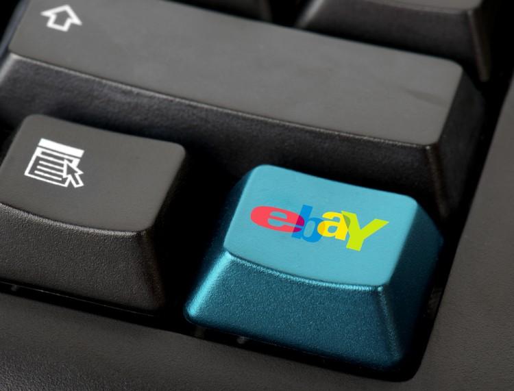 eBay Inc (NASDAQ:EBAY), button, keyboard, sign, symbol, logo, app
