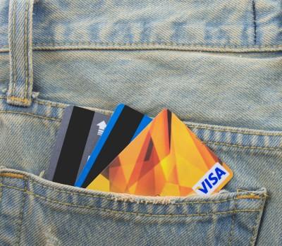 Visa Inc (NYSE:V), card, pocket, jeans, credit cards, bank
