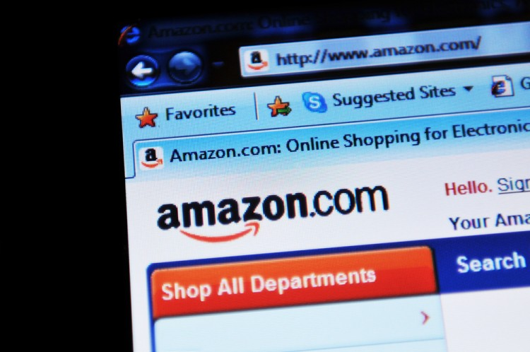 Amazon.com, Inc. (NASDAQ:AMZN), Homepage, Webiste, Close up, Online Shopping, Laptop,