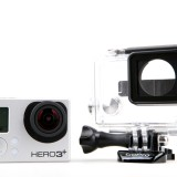 GoPro Inc (NASDAQ:GPRO), Action camera, Hero 3, Plus, Black edition,Isolated,