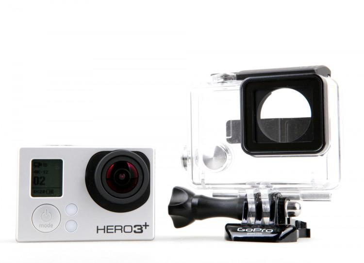 GoPro Inc (NASDAQ:GPRO), Action camera, Hero 3, Plus, Black edition,Isolated,