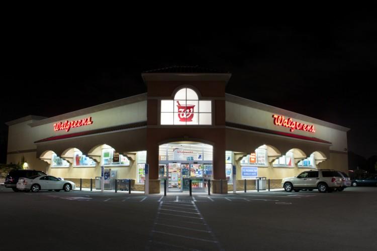 Walgreens Boots Alliance Inc (NASDAQ:WBA), Logo, Sign, Store, Building, Retail Business