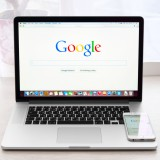 Google Inc (NASDAQ:GOOGL), homepage, search, laptop screen, display, browse, network, isolated