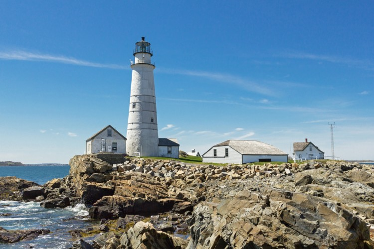brewster, island, lighthouse, day, new, panoramic, skyline, massachusetts, and, beacon, boston, lens, england, architecture, city, buildings, scenic, wide-angle, coastline, little, harbor