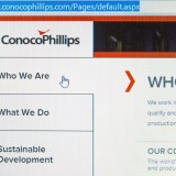 ConocoPhillips (NYSE:COP), homepage, website, oil company, logo, sign, symbol