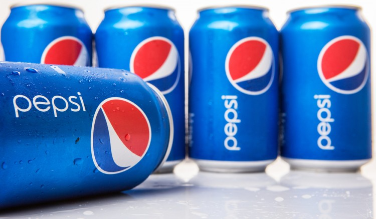 PepsiCo, Inc. (NYSE: PEP), can, cans, Pepsi, Dring, Beverage, Nonalcoholic, Popular, Sign, Logo, Brand