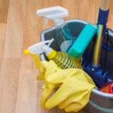 mop, bleach, bathroom, sanitary, yellow, life, cleaner, clean, equipment, object, bottle, home, set, house, hygiene, bucket, sponge, storage, material