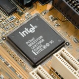 Intel Corporation (NASDAQ:INTC), microprocessor, Sign, Logo, chip, hardware, processor