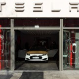 Tesla Motors Inc (NASDAQ:TSLA), car, showroom, company, automobile, design, motors