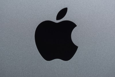 Apple Inc. (NASDAQ:AAPL), Apple Logo, Brand, Sign, Black, Isolated,