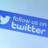 Twitter Inc (NYSE:TWTR), Sign, Follow us on Twtter, Symbol, Logo, Bird,