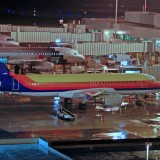 airport, depart, preparation, travel, takeoff, darkness, loading, airliner,aerplane, flying