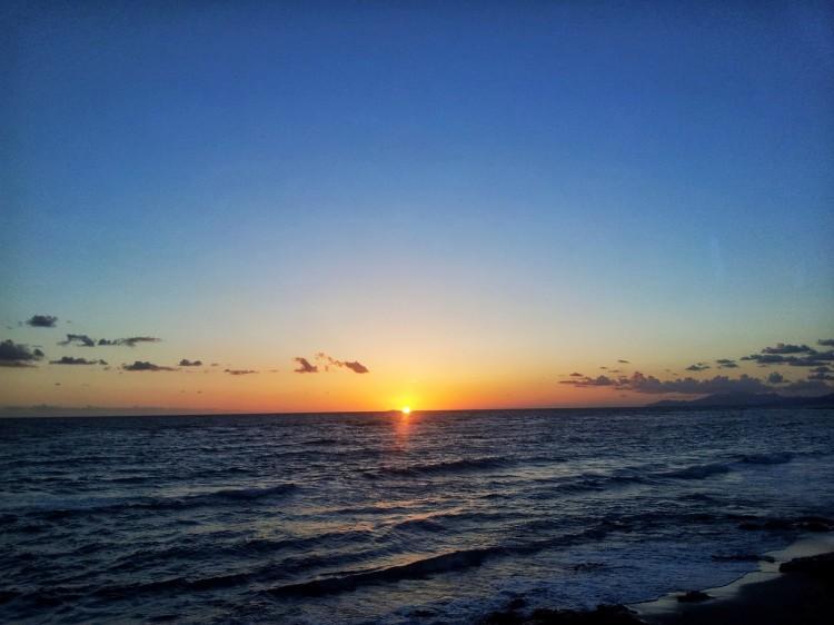 Greece sea sunset
