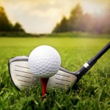 sport, golf, club, ball, tee, playing, training, green, sunset, sport, grass, objects, leisure, hobbies, activity, course, accuracy, outdoors