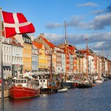 flag, denmark, copenhagen, nyhavn, water, hotel, street, cafe, bar, travel, pier, christian, atmosphere, new, drink, sunny, breakfast, restaurant, ship, old, bank, walk, building,