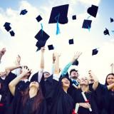 cap, school, high, hat, student, university, air, asian, throwing, background, life, alumni, tossing, mortar,
