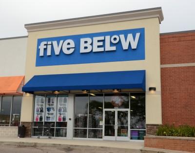 below, five, store, usa, retail, business, sign, symbol, entrance, door, building, window, front, brand, company, logo, shop, american, facade