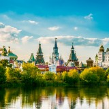 russia, moscow, bright, russian, travel, sunset, decoration, tower, street, cultural, national, kremlin, white, river, cloud, ornament, view, decorated, red, izmailovskiy, trees,