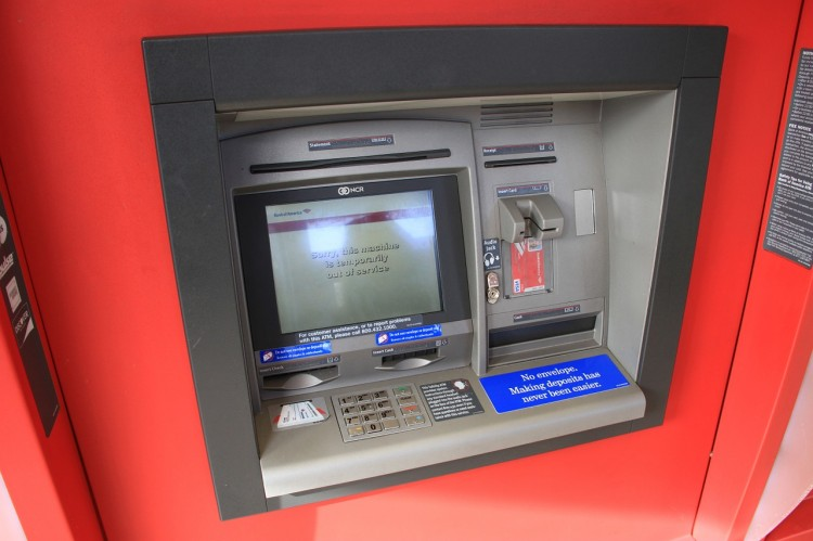 ATM, bank, machine, money