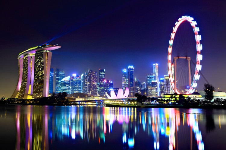 night, flyer, asia, hotel, exterior, view, famous, marina, singaporean, landmark, river, bay, streets, sea, helix, dark, modern, theater, illuminated, traffic, styles, skyline, east, 11 Most Expensive Cities to Visit in Asia in 2015