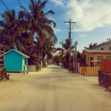 caulker, street, town, caribbean, beach, tourism, fishing, island, coast, america, tropical, deck, travel, belize, diving, central, holiday, summer, caye, hostel, village, coral, paradise, tourist, blue, relax, sky, boat, background, idyllic, vacation, palm, ocean