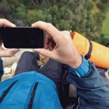 phone, sport, outdoor, trail, gps, winter, photographing, hiking, adventure, leisure, natural, activity, hiker, travel, view, survival, male, active, freedom, trekking, explore,