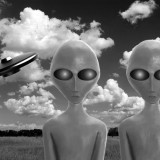 aliens, two, monster, martians, fiction, white, black, ufo, unidentified, paranormal, meadow, humanoid, spaceship, green, mysterious, roswell, civilization, et, creature,